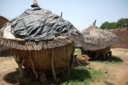 Precarious housing in the settlement of Zongo